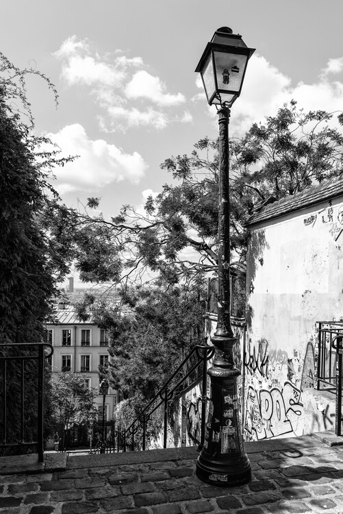 Art Photography Black Montmartre - Street Lamp
