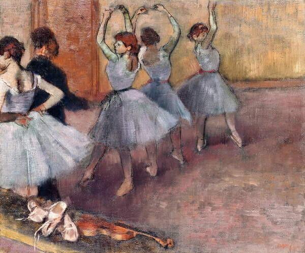 Fine Art Print Blue-Toned Dancers (The Rehearsal in the Foyer de la Danse), c.1882