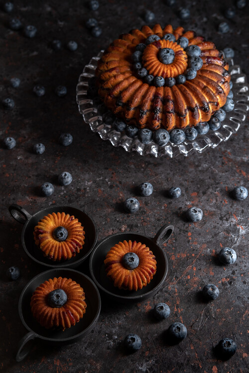 Art Photography Blueberry bundt cake