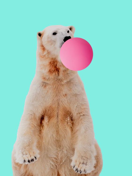 Illustration Bubblegum polarbear