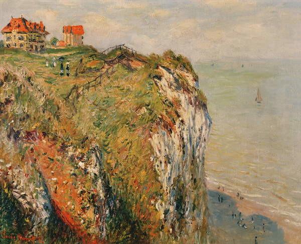 Fine Art Print Cliff at Dieppe, 1882