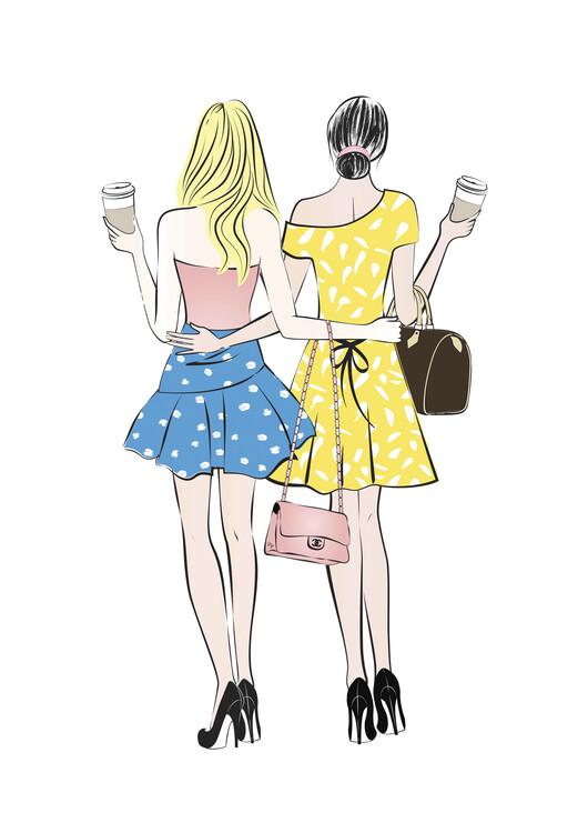 Illustration Coffee friends1