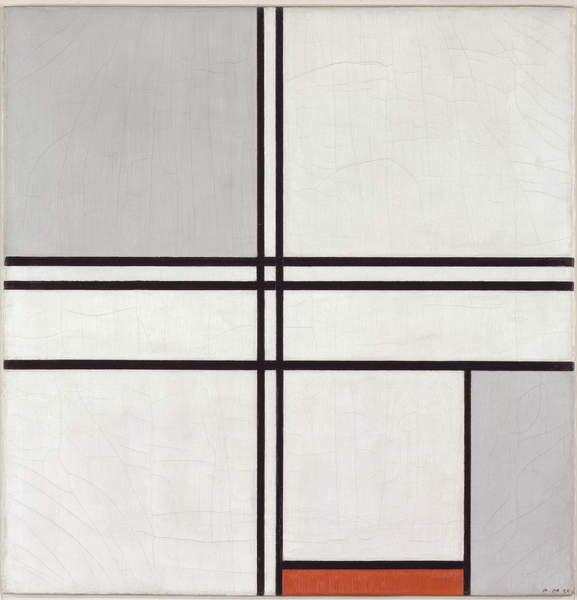 Fine Art Print Composition (No. 1) Gray-Red