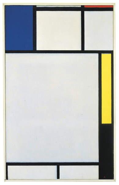 Fine Art Print Composition with blue