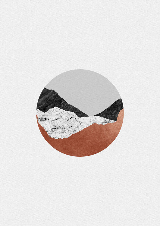 Illustration Copper Geometric III