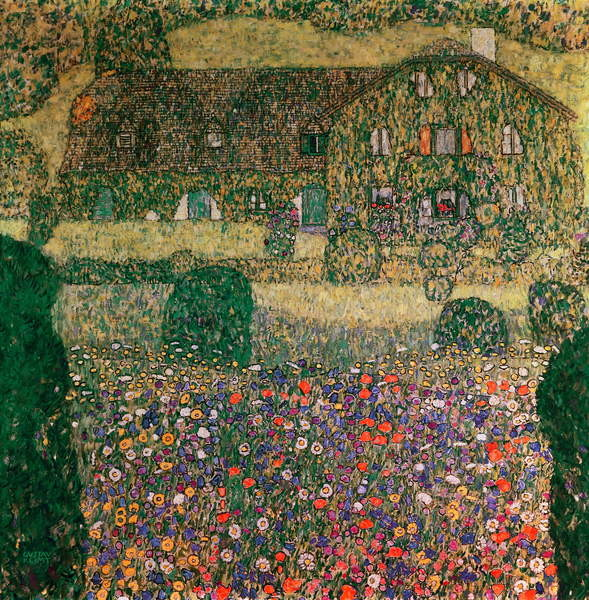 Fine Art Print Country House by the Attersee, c.1914
