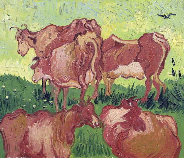 Fine Art Print Cows, 1890