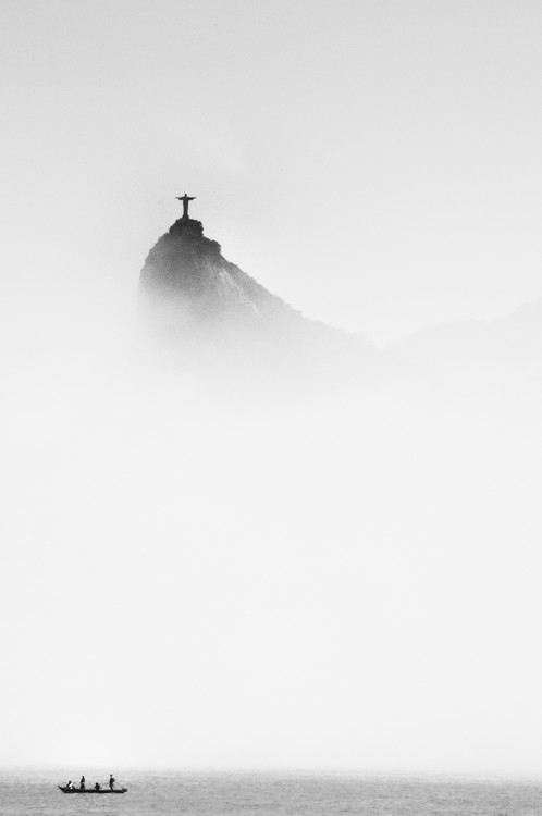 Art Photography Cristo in the mist