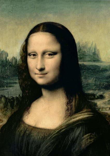 Fine Art Print Detail of the Mona Lisa, c.1503-6