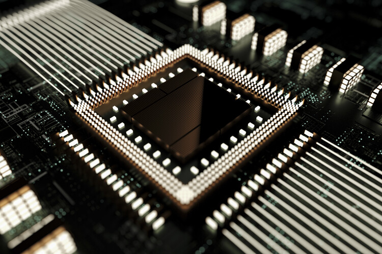 Art Photography Details of futuristic and abstract cpu series  1