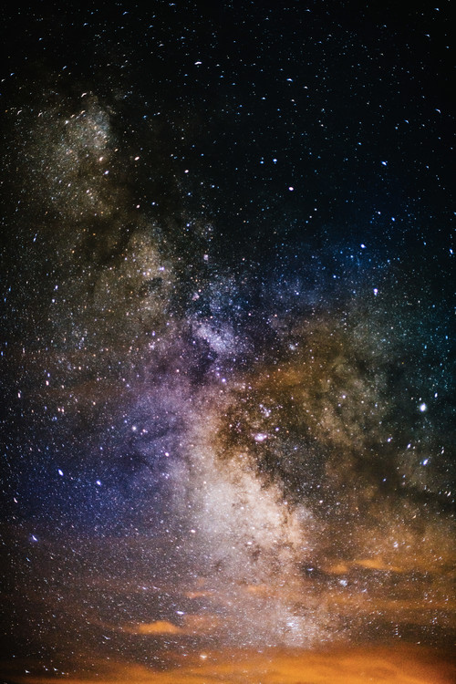 Art Photography Details of Milky Way of St-Maria