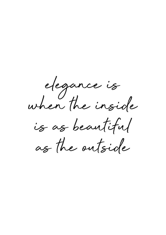 Illustration Elegance Quote
