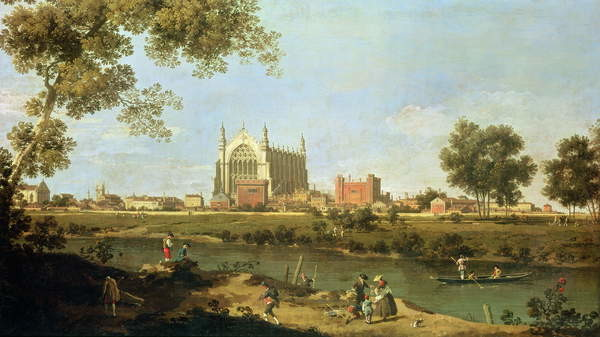 Fine Art Print Eton College, c.1754