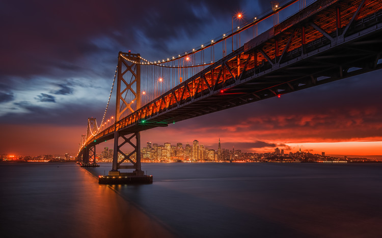 Art Photography Fire over San Francisco