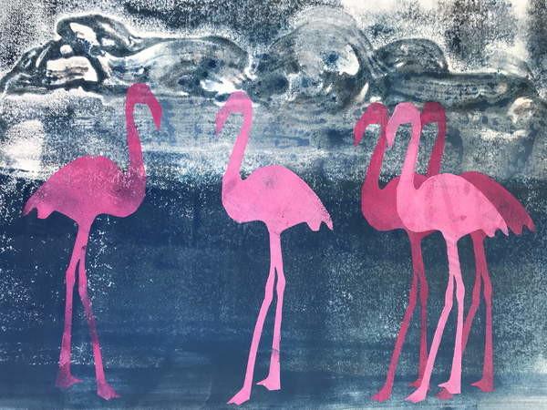 Fine Art Print Flamingos