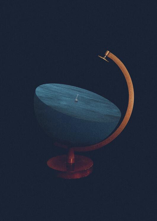 Illustration Flat earth