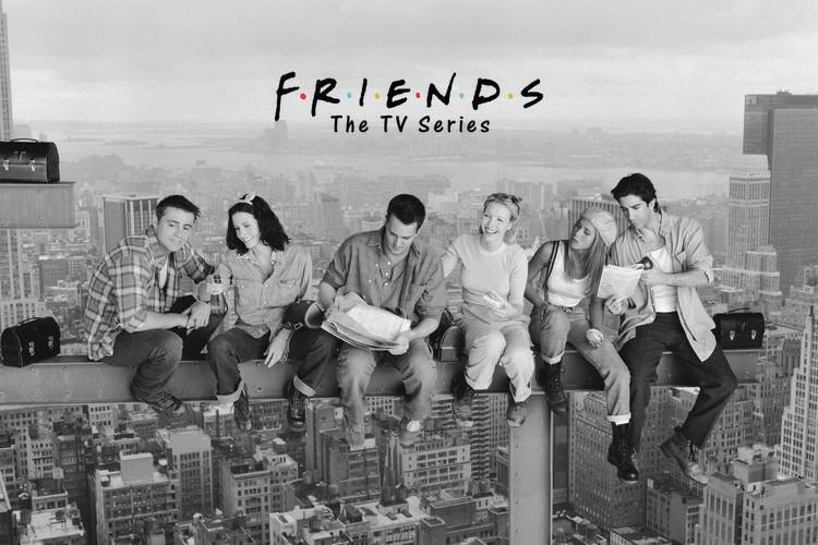 Poster Friends - Almoço em um Arranha-céu
