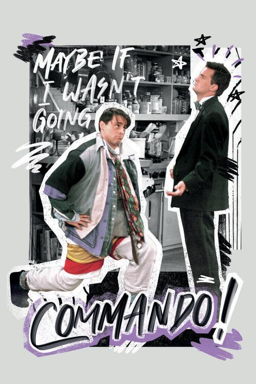 Art Poster Friends - Commando!