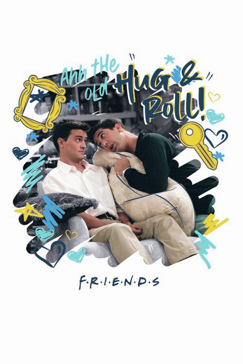 Poster Friends - Hug and Roll!