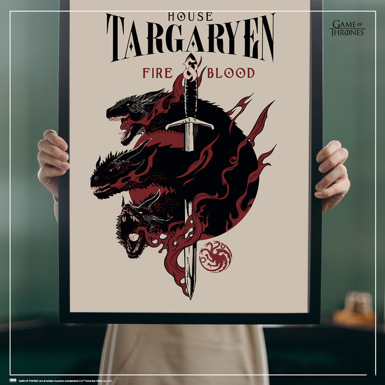 Art Poster Game of Thrones - House Targaryen