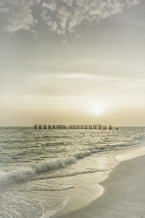 Art Photography Gasparilla Island Sunset | Vintage