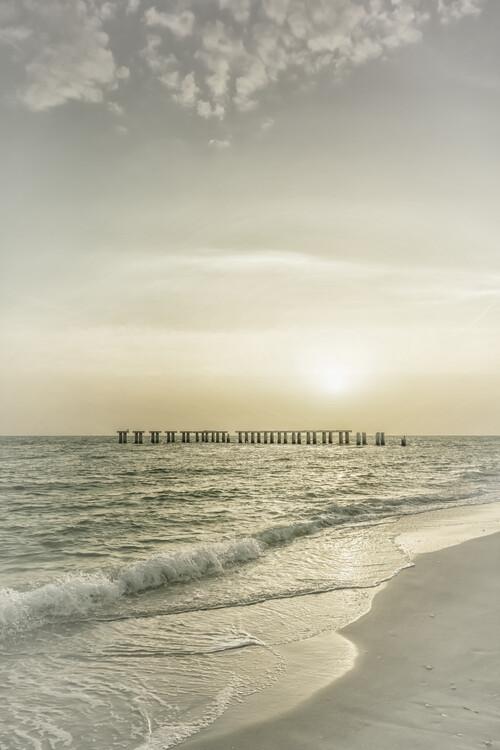Taide valokuvaus Gasparilla Island Sunset | Vintage