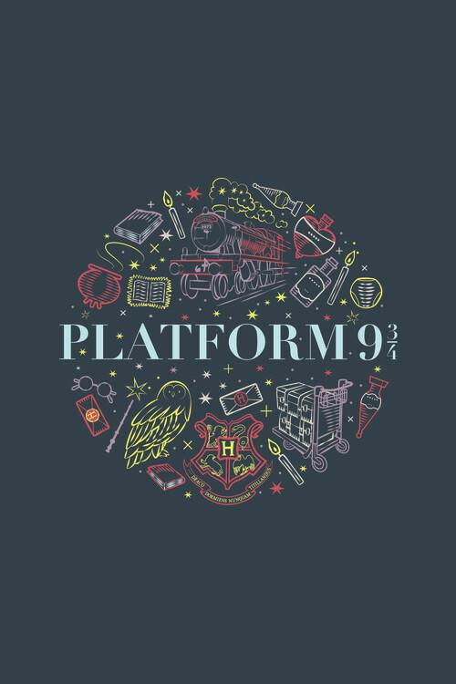 Poster Harry Potter - Platform Nine and Three-Quarters