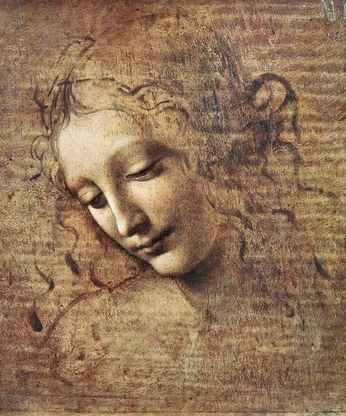 Fine Art Print Head of a Young Woman with Tousled Hair or, Leda