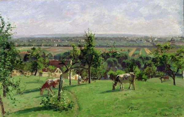 Fine Art Print Hillside of Vesinet, Yvelines, 1871