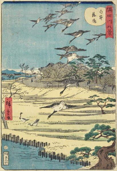 Fine Art Print Homing Geese at Shirahige, November 1861