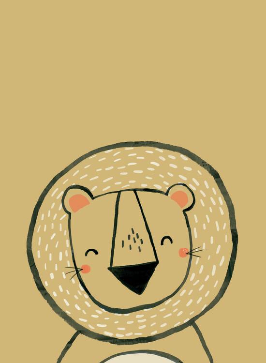 Illustration Inky lion