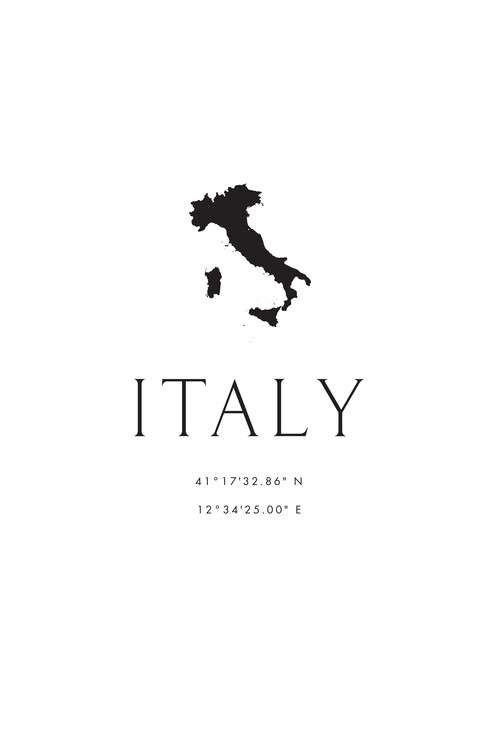 Map Italy map and coordinates