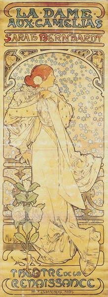 """Fine Art Print """"La Dame aux Camélias"""", with Sarah Bernhardt"""