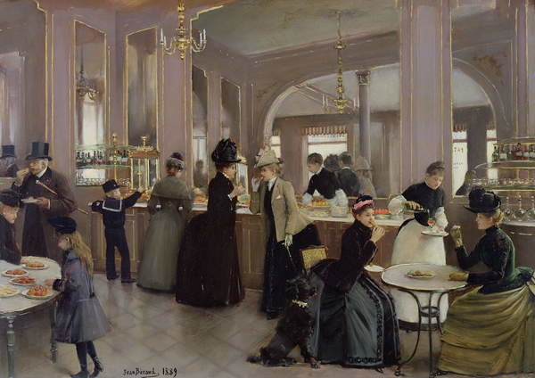 Fine Art Print La Patisserie Gloppe, Champs Elysees, Paris, 1889