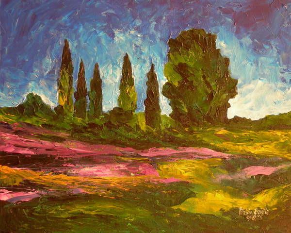 Fine Art Print Lavenders are blooming, 2009