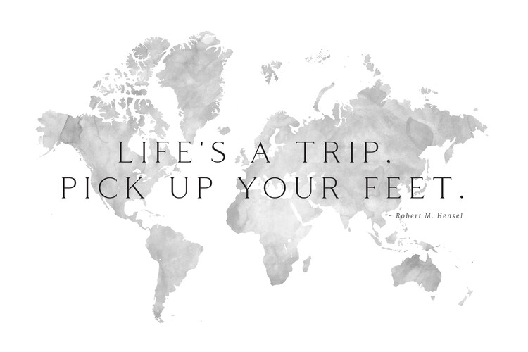 Map Life's a trip world map