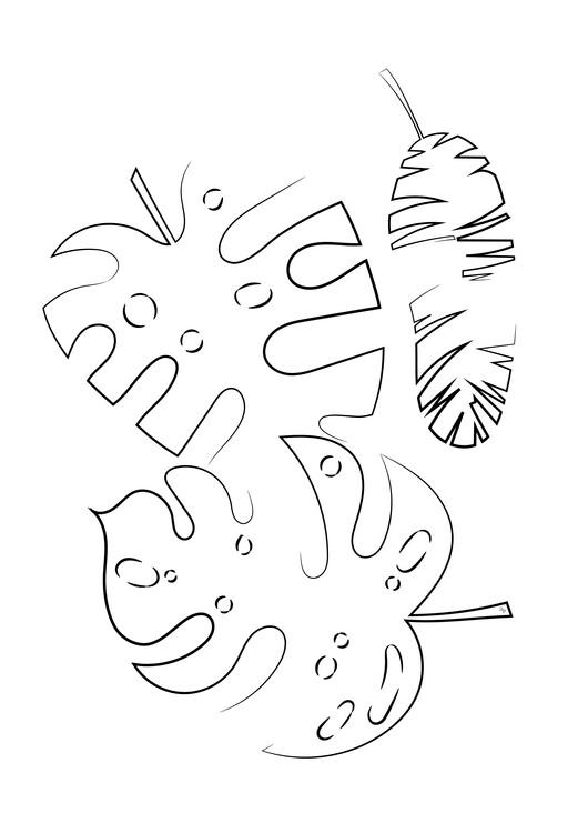 Illustration Line leaves