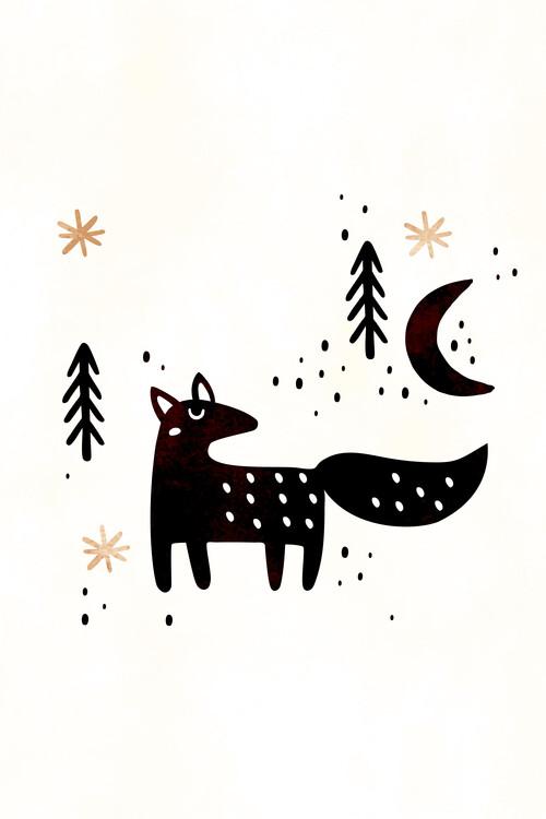 Illustration Little Winter Fox