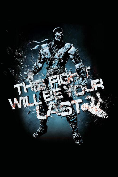 Art Poster Mortal Kombat - Fight