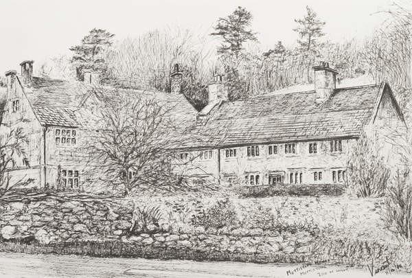 Fine Art Print Mottistone Hall Isle of Wight, 2008