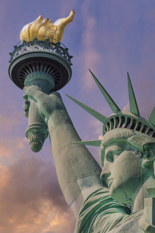 Art Photography NEW YORK CITY Statue of Liberty at sunset