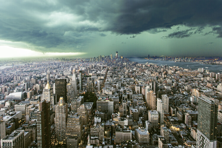 Art Photography New-York under storm