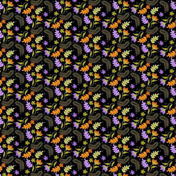 Fine Art Print Night Leaves pattern