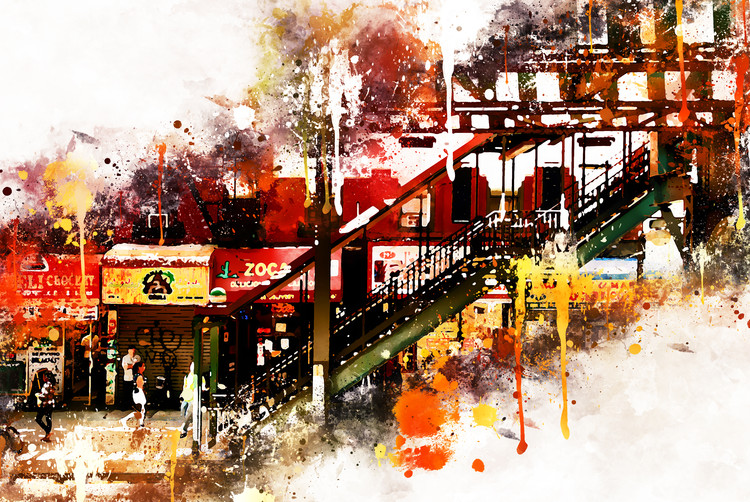 Taide valokuvaus NYC Watercolor 032