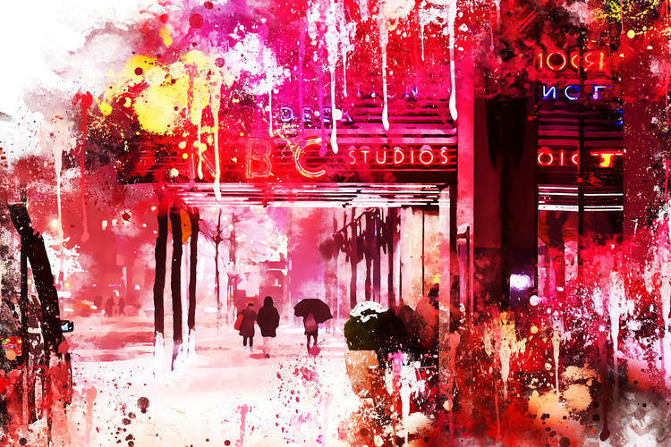 Art Photography NYC Watercolor 105