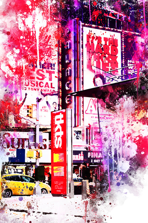 Taide valokuvaus NYC Watercolor 110