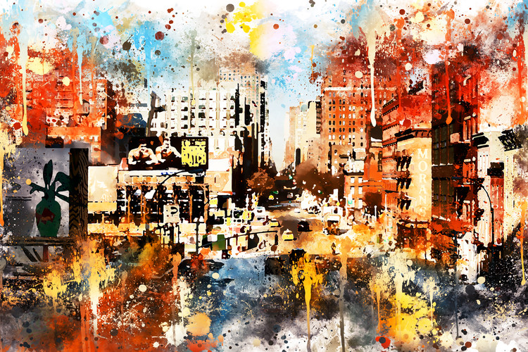 Taide valokuvaus NYC Watercolor 115