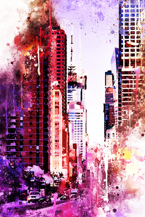 Taide valokuvaus NYC Watercolor 119