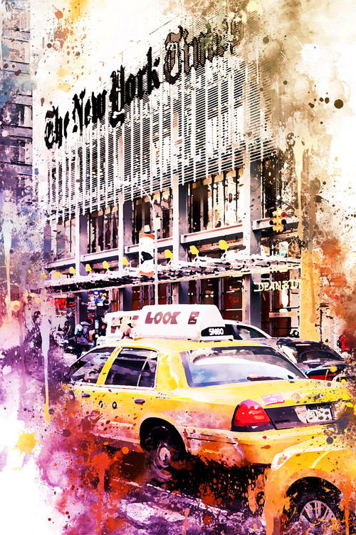 Taide valokuvaus NYC Watercolor 127