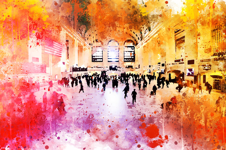 Taide valokuvaus NYC Watercolor 157